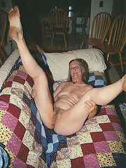 Granny shows her hairy pussy consider, that